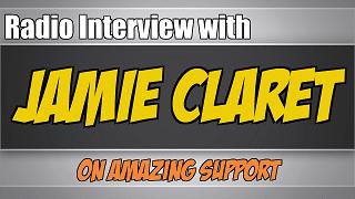 radio-interview-jamie-claret-amazing-support