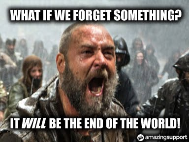 IT Support Contracts - Noah 2014 The End of the World
