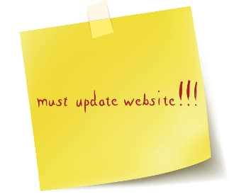 Keep your website updated