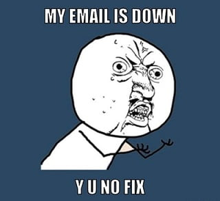 email is down