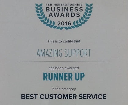 amazing-support-london-it-company-wins-runner-up-best-customer-service-awards