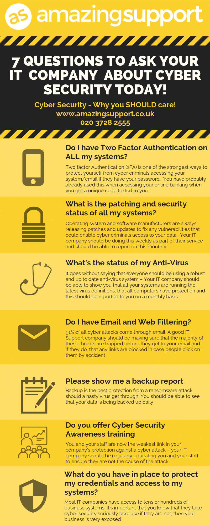 Questions To Ask Your IT Company About Cyber Security Today – Infographic